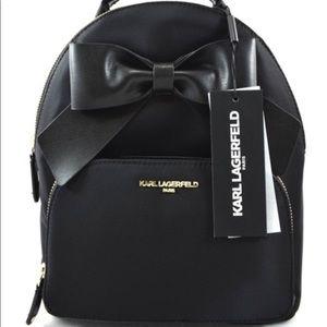 NWT Karl Lagerfeld Kris Bow Mini Nylon Backpack